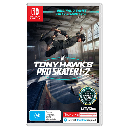 Tony Hawk's Pro Skater 1 + 2 - (Asia)(Eng)(Switch)(Pre-Order)